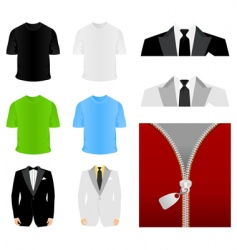 fashionable clothes vector image vector image