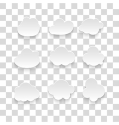 messages in the form of clouds Icon vector image vector image