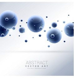 3d blue molecules abstract background vector
