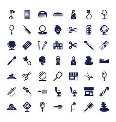 49 salon icons vector