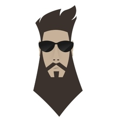 A brutal man Hipster in dark glasses vector