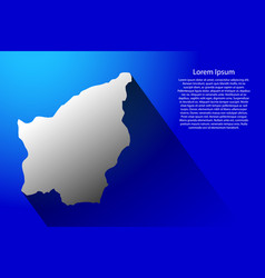 abstract map of san marino with long shadow on vector image