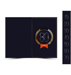 anniversary card for invitation congratulation vector image