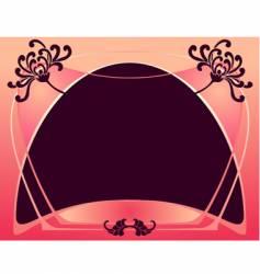 art deco purple color frame vector image