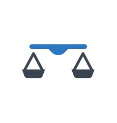balance scale icon vector image