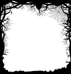 Black silhouette of a forest vector