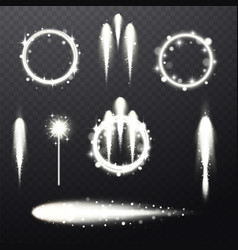 bright festive light beams vector image