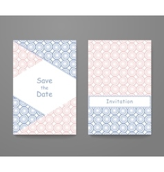 Business card with trendy colors vector image