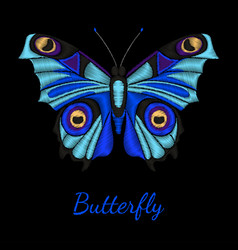 Butterfly embroidery v vector