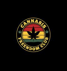 Cannabis silhouette design vector