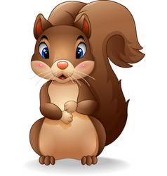 Cartoon adorable squirrel vector