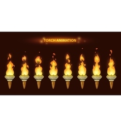 Cartoon torch animation vector image
