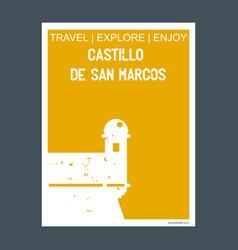 Castillo de san marcos st augustine usa monument vector