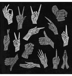 chalkboard set of universal vector image