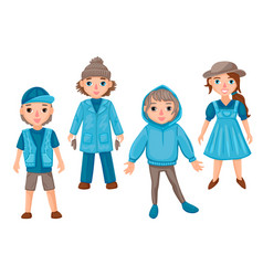 Characters in different clothes guys and girls vector