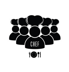 Chef cooking icon vector