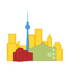 colored cityscape of toronto vector image