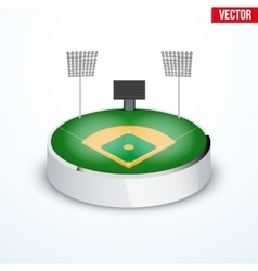 Concept of miniature round tabletop Baseball vector