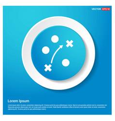 Cricket stadium icon abstract blue web sticker vector