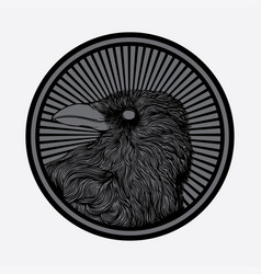 crow logo shirt vector image