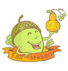 Cute acorn vector image vector image