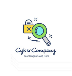 Cyber company search logo with white background vector