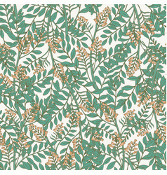Elegant botanical seamless pattern with acacia vector