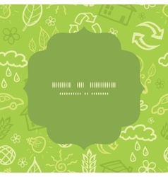 Environmental circle frame seamless pattern vector