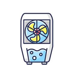 Evaporative cooler rgb color icon vector