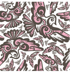 Fairy bird seamless repeat pattern vector