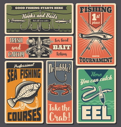 fishing sport fisher tackles shop vector image