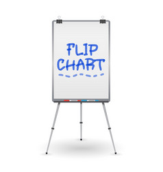 flip chart office whiteboard for business vector image