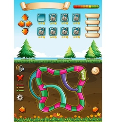Game template with view underground vector