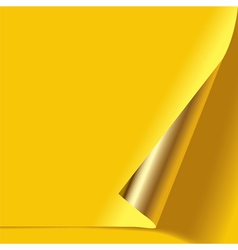 Gold curled corner vector image