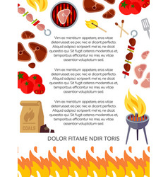 Grill house or barbeque poster design vector