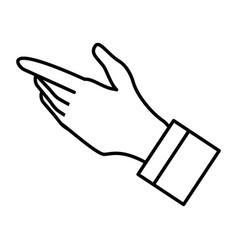 hand human avatar character vector image