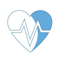 heart beat healthy medicinal cardiology symbol vector image