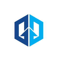 Hexagon arrow business vector