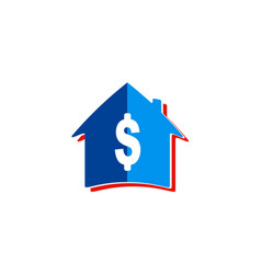 house dollar sold logo vector image