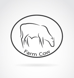 Image of an cow in the circle vector