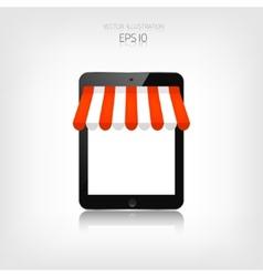 Internet shopping concept Realistic tablet E vector