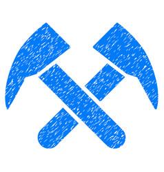 Job hammers grunge icon vector