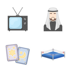 magic television and other web icon in cartoon vector image