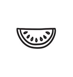 Melon sketch icon vector