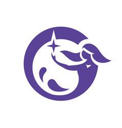 Mermaid abstract sign vector