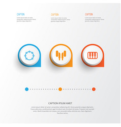 Multimedia icons set collection of timbrel vector