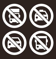 no lorry parking sign no taxi parking no car vector image