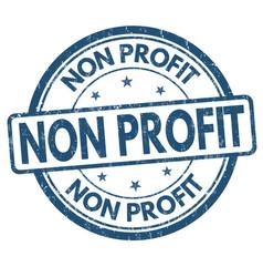 Non profit grunge rubber stamp vector