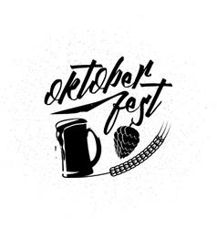 Oktoberfest logo vector image
