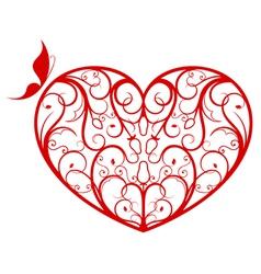 Ornate heart vector